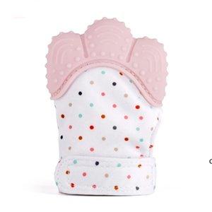 Bebek diş kaşıyıcı eldiven gıcırtılı öğütme diş çiğneme ses oyuncaklar güzel dişler bebek oyuncakları yenidoğan diş çıkarma ağrı kesici uygulaması oyuncaklar DHE6073