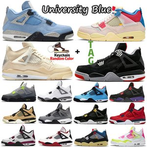 Wholesale Sail University Blue Oreo 4 4s mens basketball shoes Bred Black Cat Guava Ice What the White Cement women Sports Sneakers