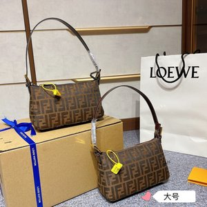 large-capacity handbagsWomen Luxurys Designers Autumn and Winter 2021 New Weiye Same Net Red Vintagef Letter Canvas Underarm Bag Single Shou