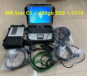 mb star c5 Connect Compact 5 Star auto diagnostic tool scanner with i5 CF19 laptop ready use