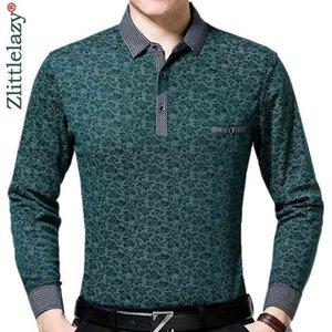 Polo Marca Casual Luxury Fitness Camisa de manga larga Hombres Poloshirt Jersey Pocket Mens Polos Tee Shirts Dress Fashions 90332
