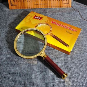 Hd Convenient High Power 60mm708090mm Magnifying Glass Handle Round Special Glasses for the Elderly