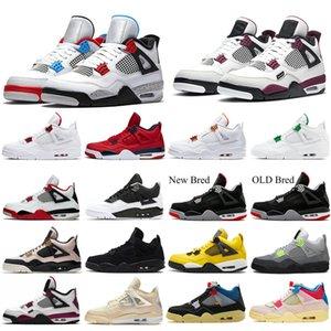 أبيض أوريو 4 الرجال أحذية كرة السلة 4 ثانية الظهر القط النار الأحمر المرأة رجل حذاء رياضة في الهواء الطلق الرياضة مدرب حجم US5.5-13