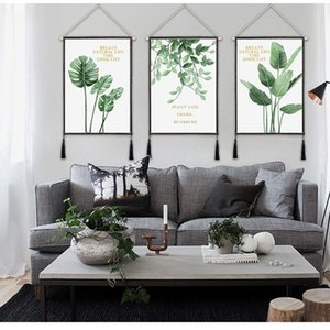 Paintings Room Posters Tropical Plant Plantain Leaves Canvas Painting Print Palm Tree Leaf Wall Art Nordic Mural For Home Decoration