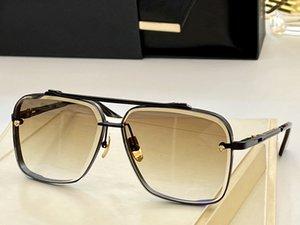 Designer di lusso Designer Occhiali da sole Minimalista Design Polygonale Diamante Trimming Processo Uomo Donna Bicchieri classici Golden Full Frame EyeGlasses Quadrato Grigio Lenti Grigio
