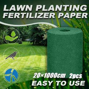 20×1000cm Grass Seed Mat Fertilizer Garden Picnic Gardening Lawn Planting Decorative Flowers & Wreaths