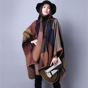 Luxury Brand scarves and shawls 1PCS autumn winter scarf grid woman travel wool spinning ladies National intensification