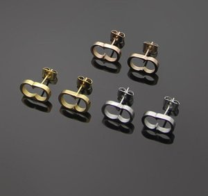 Never fade High quality New Arrival Extravagant jewelry men studs Classic design earrings Stainless Steel silver flower elagant women stud earring Wholesale