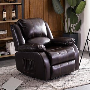 Living Room Furniture Style A function chair dark brown PU combination