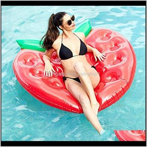 Floats Tubes Swimming Water Sports Outdoors Drop Delivery 2021 Giant Inflatable Stberry Floating Row Summer Beach Swimmming Pool Float Seat G