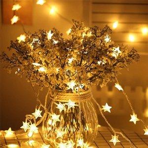 태양 램프 스타 garlands 50 LED 문자열 빛 야외 요정 조명 정원 방수 조명 홈 마당 크리스마스