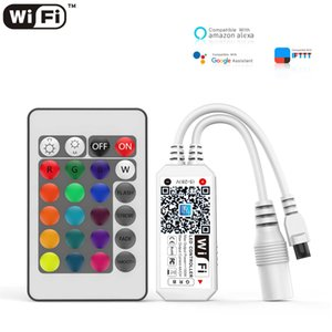 Controllers 12V LED Strip Light WIFI RGB Controller Android IOS APP Bluetooth-compatible Magic Home IR Remote Control For Tape