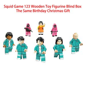 Squid Game block Decompression Toy 123 wooden people model toys doll around the blind box South Korea DHL Free