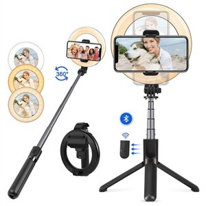 L07 Bluetooth selfie stick portable Monopods 5 inch ring fill light anchor beauty lights mobile phone live support