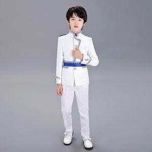 High quality European British prince costume boy children stage catwalk performance suit retro European style noble court dress