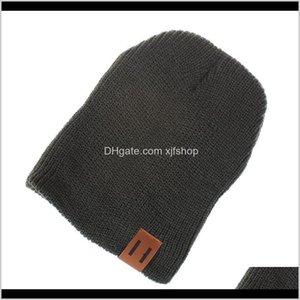 Fashion Kids Warm Bonnet Knitted Caps Visor Cup Childrens Winter Autumn Hats Weave Unisex Hat Casual Cap Headgear I2Mkw Zq3Xp