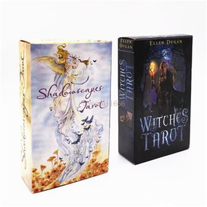5 Styles Tarots Witch Rider Smith Waite Shadowscapes Wild Tarot Deck Board Game Cards with Colorful Box English Version