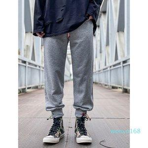 2021 Mens Joggers pants casual trousers Hip-hop UNISEX Elastic band Fashion Stripes Panalled Pencil Jogger Asian size multiple colour
