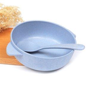 Baby Feeding Stoviglie Set Eco-friendly Toddle Bambino Piatto Piatto Bambini Piatti Dintingware Bambini Bambini Anti-Hot Bowl Bowl + Cucchiaio 1040 x2