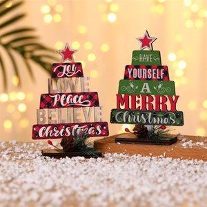 Christmas Decorations Christmas Tree Shape English Alphabet Desktop Ornaments Xmas Party Decoration w-01190