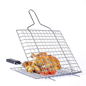Tools & Accessories Stainless Steel Bbq Grill Wire Mesh Mat Reusable Roasted Chicken Barbecue Fish Churrasco Cooking Utensils