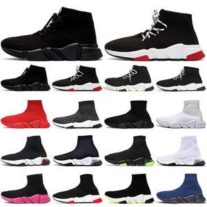 Calzino scontoin esecuzioneScarpe da uomo Outdoor Run Shoe GRAFFITI Triple Black Bianco Bianco ClearSole Volt Beige Mens Womens Platform Casual 36-45