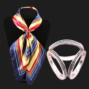 Pins, Brooches Fashion Luxury Scarf Buckle Wedding Hoop Brooch Pins For Women Crystal Holder Silk Shawl Ring Clip Jewelry Gift