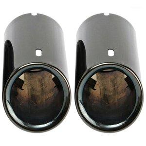 Titan Black Auto Auspuffrohre Tail-Tipps für E90 E92 325 328i 3-Serie-Verteiler-Teile1