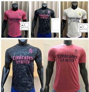 Fans Version Real Madrid Soccer Jerseys 2021 # 7 GEFAHR # 9 Benzema Zuhause 20/21 Männer Fußballhemden Sportuniformen