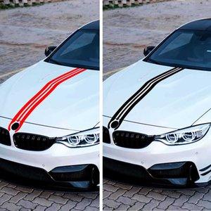 2Pcs Set Car Hood Sticker Trunk Racing Stripe Sticker for BMW 1 3 4 5Series Auto Body Decal Decoration