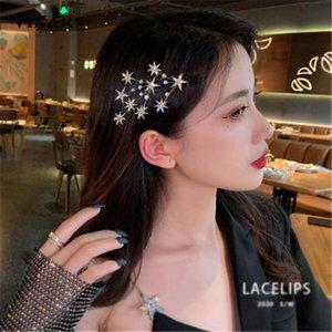 Haarschmuck 2021 Frauen Elegante Gypsophila Clips Süße Mädchen Glänzende Haarnadeln Barrettes Stirnband Mode Vikar