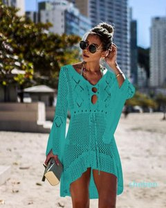 2020 New summer bikini swimming small butterfly pattern beach cover shawl mix colors Cover-Ups cool clothes can do drop shipping
