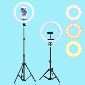 13inch 33CM LED Selfie Ring Light USB Photography light With Tripod Holder Dimmable Warm Cold Fill Ring Lamp