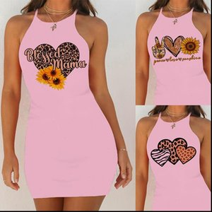 Women Dresses Sexy Nightgowns Nightie Night Dress Sleep Sleepwear Sleepshirts Sunflower Print Pink Slim Hip Nightwear