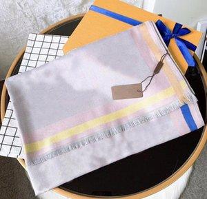 Moda diseñadora mujer seda bufanda otoño lana bufandas clásicas envoltura unisex chal bufandas tamaño 180 * 70 Opción de 4 colores de alta calidad