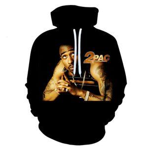Hoodie Frühling Herbst 3D Digitaldruck Tupac Herren- und Damen-Kapuzenpaar-Pullover-Baseball-Anzug Z8Qe