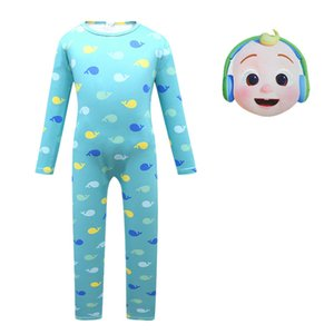 Halloween Cocomelon Romper For Little Boy Girl Cosplay Costume English Cartoon Kid Print Jumpsuit+Mask Outfit Children Set Clothing