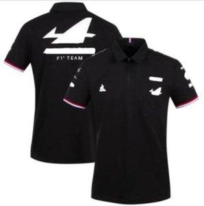 2021 F1 Formel 1 Gelenkwagen Serie Logo Racing Anzug Sommer Herren Kurzarm T-Shirt, Revers Poloshirt, Schnelltrocknung, atmungsaktive, Großformate Anpassung