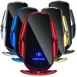 15W Q3 빠른 충전 자동 클램핑 전화 자동차 홀더 무선 충전기 삼성 갤럭시 S8 S10 S20 S21 노트 10 HTC 안드로이드 전화