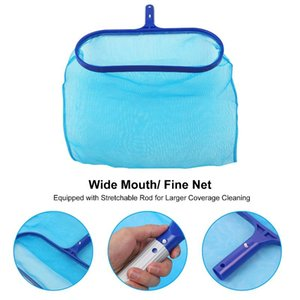 Pool & Accessories Heavy Duty Cleaning Kit Accessory Maintenance Set With L-eaf Skimmer Rake Net  Stretchable Rod  Scrubbing Brus