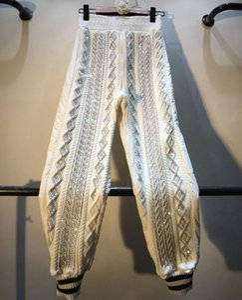 Diamant-Stud-Harem-Hosen Casual Hose Elastische Taille für Frau Herbst Winter Designer Luxus Weibliche Streetwear Damen Capris
