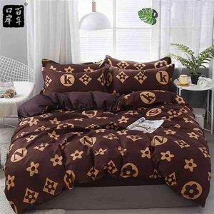 Conjunto de cama 4 pçs / set 21style folha de cama fronha de capa de edredão sets listra aloe algodão cama conjunto de cama home bed têxteis Products 201211