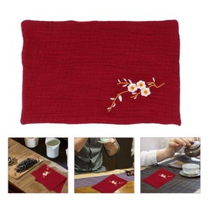 Table Napkin 2pcs Embroidered Tea Towel Kitchen Traditional Chinese Style