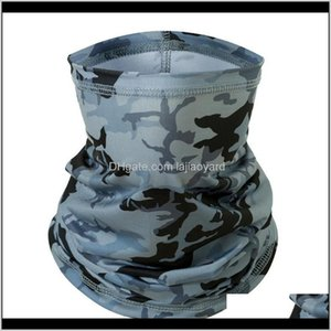 Caps Masks Protective Gear Sports & Outdoors Drop Delivery 2021 4Pcs Sun Uv Protection Neck Gaiter Mask Face Cover Scarf Dust Wind Bandana Ba