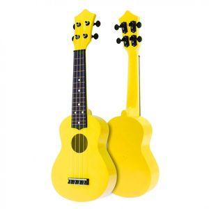 21 Inch Acoustic Ukulele Uke 4 Strings Hawaii Guitar Instrument for Kids and Music Beginner Yellow