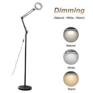 Floor Lamps 12W 36V LED Illuminated Lamp Standing Light Swing Arm Nail With Remote Control Dimmable For Livingroom Offi