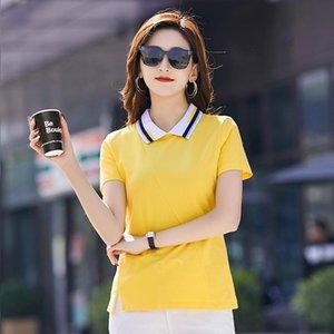 Summer European Station Ins Super Hit Color Short-sleeved Women's T-shirt High-quality Cotton Zipper Shirt