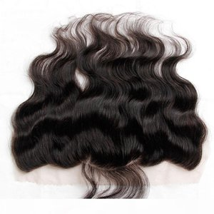 Grade 8A Indian Body Wave Wavy Lace Frontal Closure Size 13