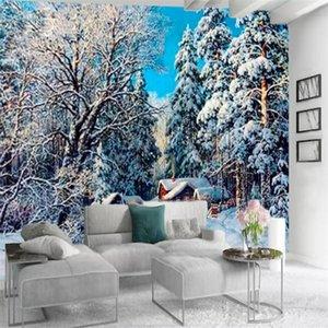 Romantic 3d Landscape Wallpaper Beautiful Snow Scenery Modern Interior Living Room Bedroom Kitchen Painting Mural Wallpapers