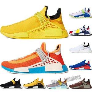 Adidas PW HU Holi NMD MC 2021 NMD человеческие гонки мужчины женщины повседневная обувь дизайнерская обувь Pharrell Williams черный белый серый серый Primeknit PK Runner XR1 R1 R2